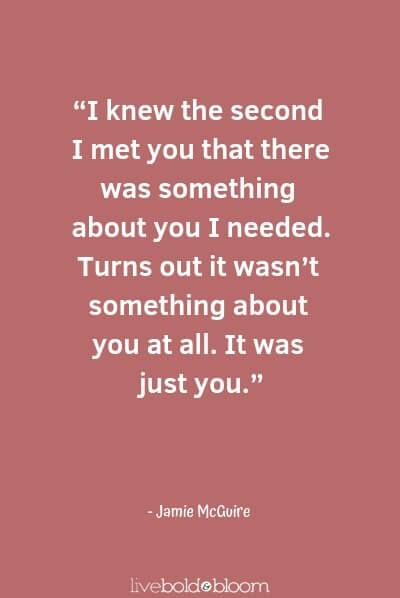 Jamie McGuire citations d'amour mignon