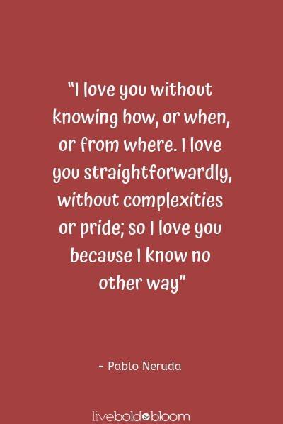 Pablo Neruda citations amour mignon