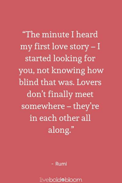 Rumi cute love quotes