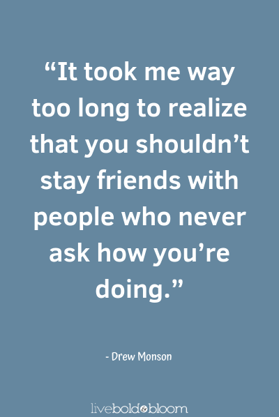 a quote by Drew Monson fake friends quotes