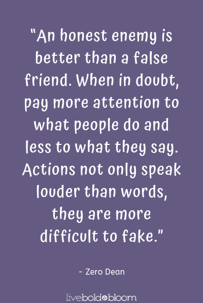 a quote by Zero Dean fake friends quotes