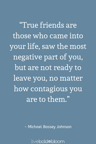 a quote by Michael Bassey Johnson fake friends quotes