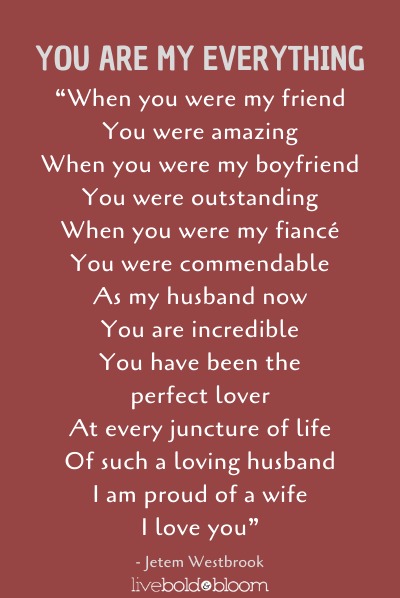 a poem by love poems for husband