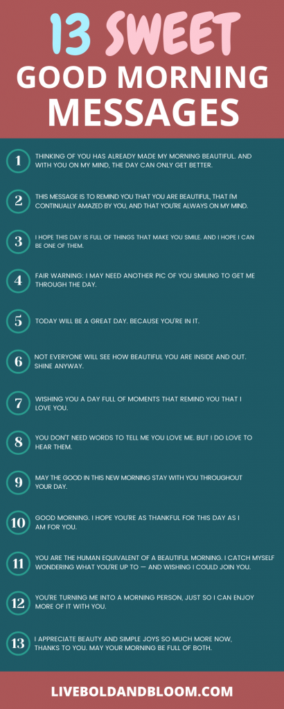 Utilisez cette liste des meilleurs messages de bonjour pour partager une pensée affectueuse. Surprenez-le avec un message textuel ou une note manuscrite de bonjour.