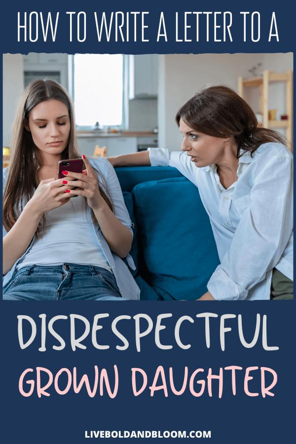 Comment arriver à une fille adulte irrespectueuse quand elle utilise vos erreurs passées contre vous chaque fois qu'elle en a l'occasion?  Lisez cet article pour savoir comment.