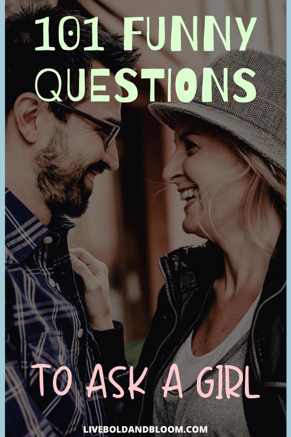 Vous voulez une collection organisée de choses amusantes à demander à une fille, et les voici.  Choisissez parmi le groupe qui correspond le mieux à votre situation et gardez une trace de vos favoris.