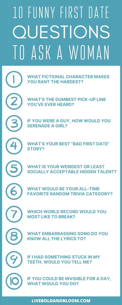 Questions drôles de premier rendez-vous à poser à une femme info