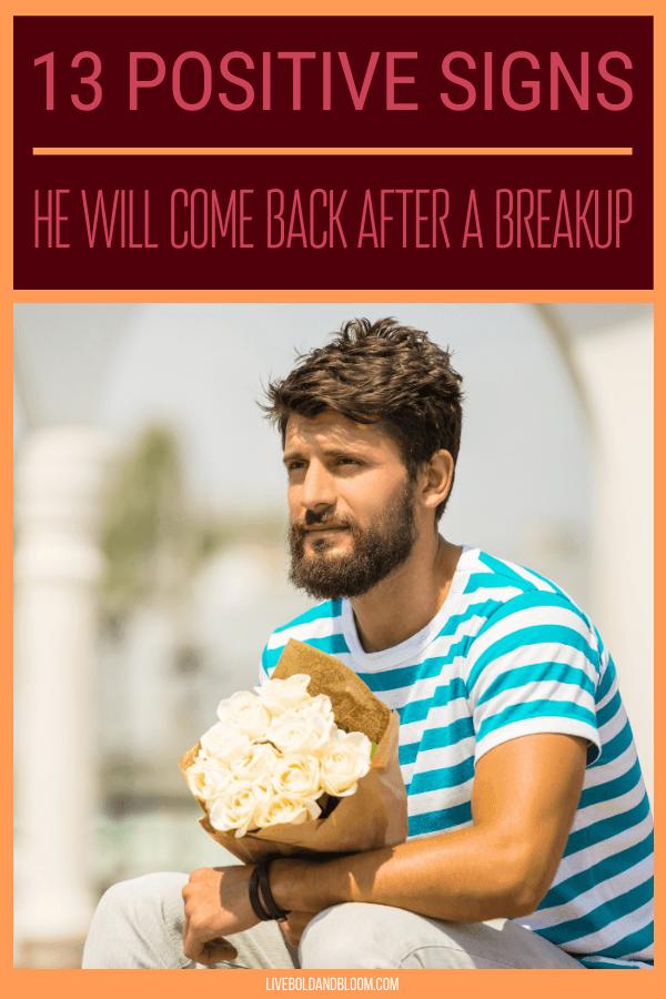 Vous vous demandez s'il veut revenir après votre rupture.  Vous vous remettez en question,
