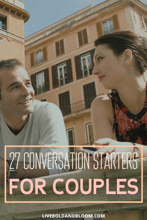 Nous voulons tous profiter de la compagnie de notre partenaire avec une bonne conversation.  Profitez de cette liste de sources de conversation captivantes pour les couples.
