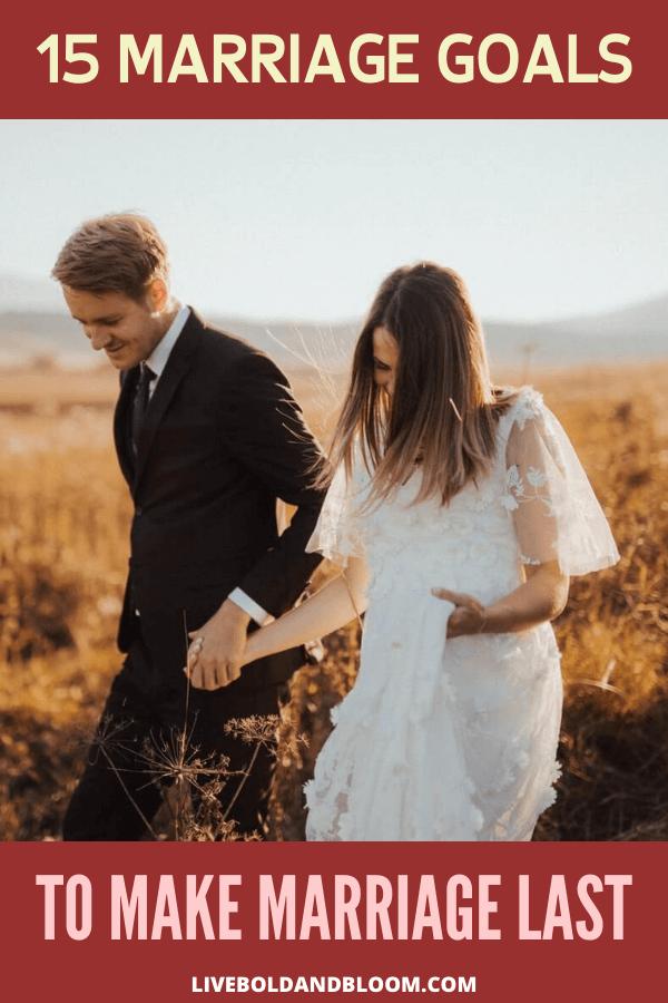 L'un des secrets des mariages durables est de se fixer des objectifs.  Consultez cet article et voyez les 15 objectifs du mariage pour que le mariage dure.