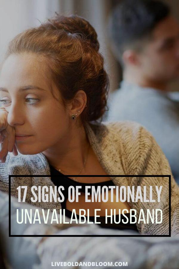 Votre mari semble distant et distant et il n'est pas