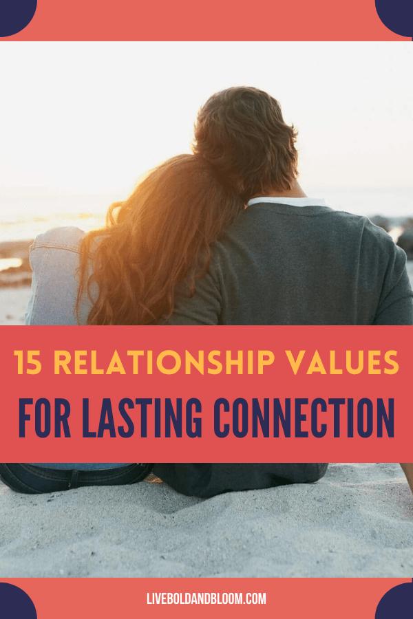 L'établissement de vos valeurs relationnelles est un facteur clé pour que votre relation dure plus longtemps.  C'est formidable d'être sur la même longueur d'onde dans vos croyances avec votre autre significatif.