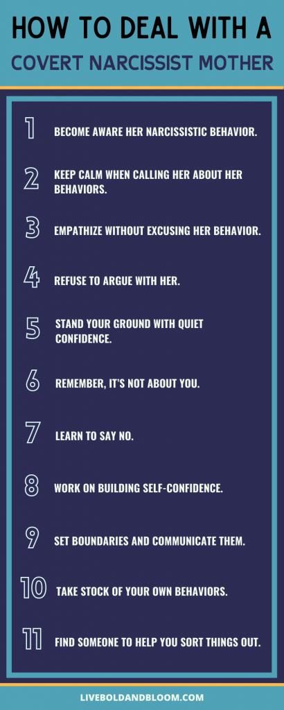 comment faire face à une mère narcissique secrète