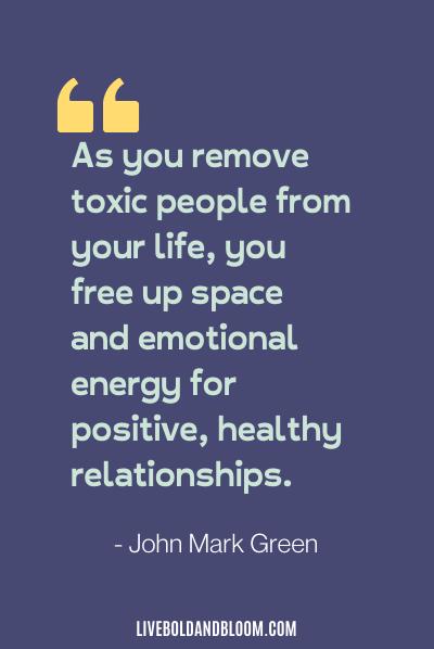 citation de relation toxique par John Mark Green