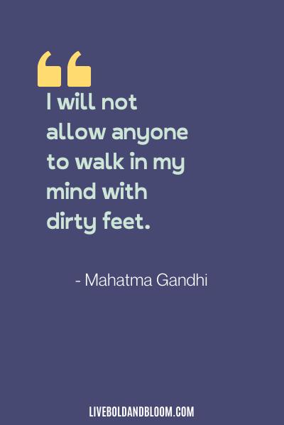 citation de relation toxique par Mahatma Gandhi