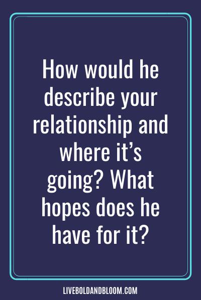 Parlez de votre situation relationnelle actuelle.