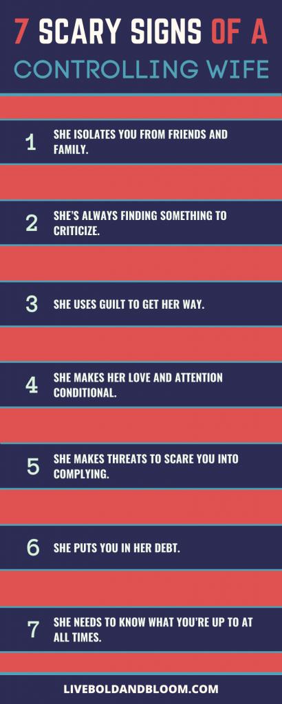 7 signes effrayants d'une femme contrôlante